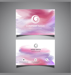 Business card with paint strokes design vector