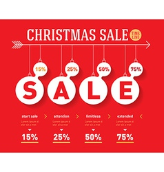 Christmas sale time line graph social activity vector