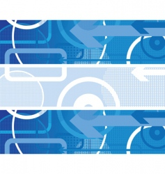 circles background blue vector image vector image
