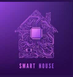 circuit home smart house concept isolated on vector image
