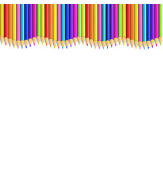colored pencils up line in shape of wave border vector image