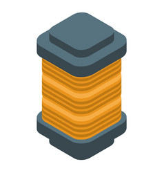 Copper coil icon isometric style vector