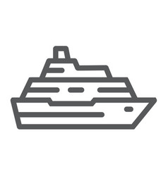 cruise ship line icon travel and tourism vector image