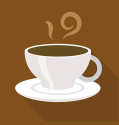 Cup of coffee expresso or americano flat design vector