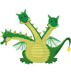 cute three headed dragon vector image