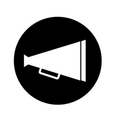 Director cinema megaphone icon vector