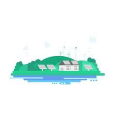 eco energy landscape vector image