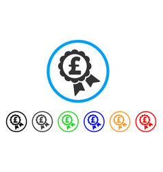 featured pound price label rounded icon vector image