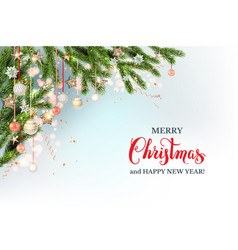 festive christmas template vector image