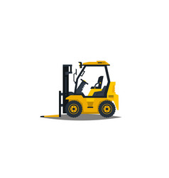 Forklift isolated on white background vector