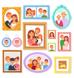 Frame framing picture or family photo on vector