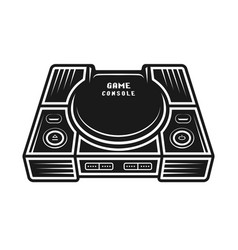 game console monochrome isolated object vector image