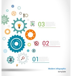 Gears infographics template vector image