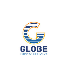 global express delivery letter g icon vector image