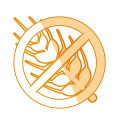 gluten free food vector image