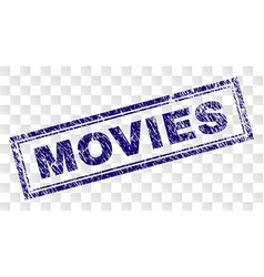 Grunge movies rectangle stamp vector