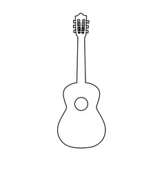 Guitar line icon outline sign linear vector