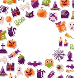 Halloween Clean Card with Place for Your Text vector