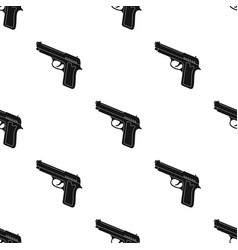 Handgun icon in black style isolated on white vector