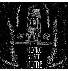 Home Sweet Home card vector
