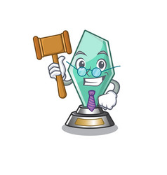 Judge acrylic trophy stored in cartoon drawer vector