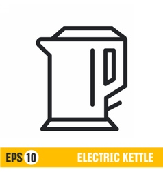 Line icon electric kettle vector