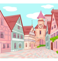 Little Europe town vector
