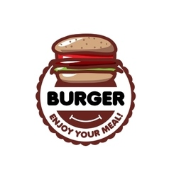 Logo burger vector