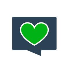 love message colored icon heart in speech bubble vector image
