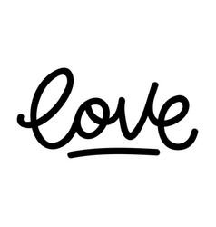 love retro lettering vector image
