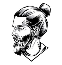 Man hipster handsome drawing vector