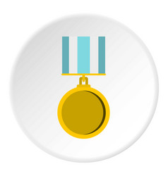medal for services icon circle vector image
