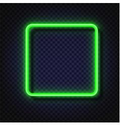 neon light square banner neon light frame vector image