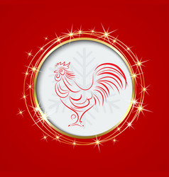 Red background with a circleinside the the symbol vector