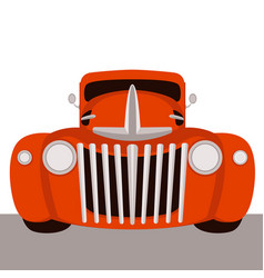 red vintage car vector image