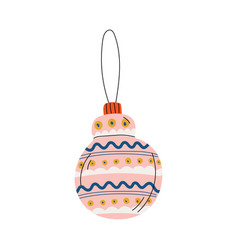 right bauble ball traditional christmas decoration vector image
