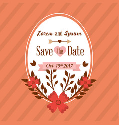 save the date card greeting wedding floral vector image