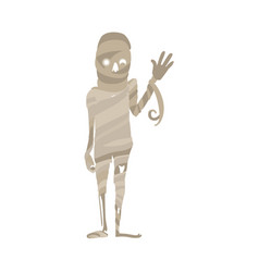 scary spooky mummy waving hello egypt symbol vector image