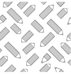 Seamless pattern with cute cartoon pencils vector
