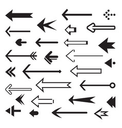 set of back arrows and icon vector image