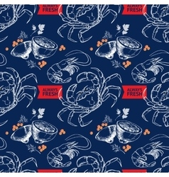 Shrimp lemon dill crab words Always Fresh vector