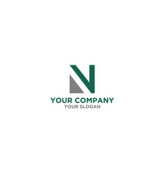 simple n logo design vector image