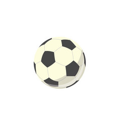soccer ball football equipment simple icon vector image