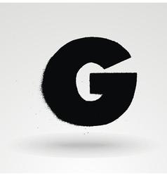 Stencil spray paint font Detailed alphabet vector image