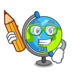 Student globe character cartoon style vector