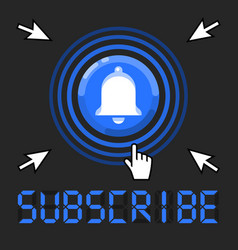 subscribe now message with cursors around bell vector image