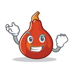 Successful red kuri squash character cartoon vector