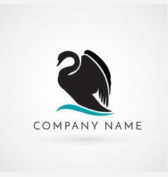 swan logo sign emblem-08 vector image