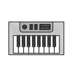 Synth console isolated icon vector