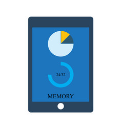 tablet gadget memory storage on screen vector image
